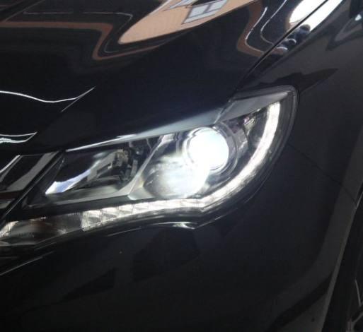比亚迪S7车灯改装氙明双光透镜飞利浦WHV+氙气大灯
