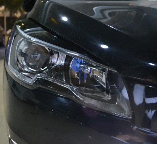 16款标致508车灯改装进口海拉透镜欧司朗飞利浦氙气灯
