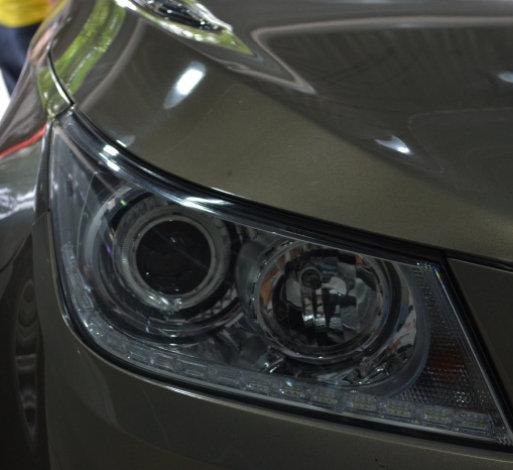 10款君越车灯改装天使眼LED日行灯进口海拉5透镜欧司朗氙气灯