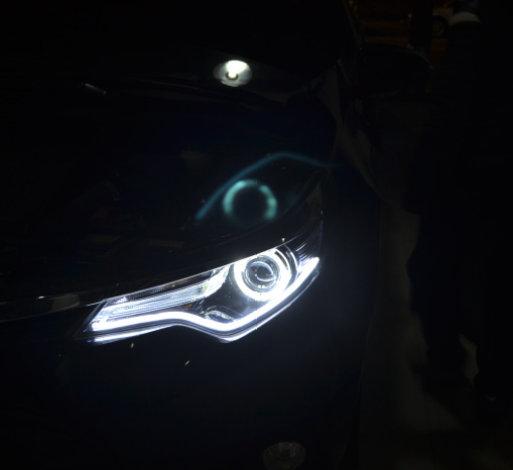 雷凌车灯改装天使眼光导日行灯双光透镜氙气灯