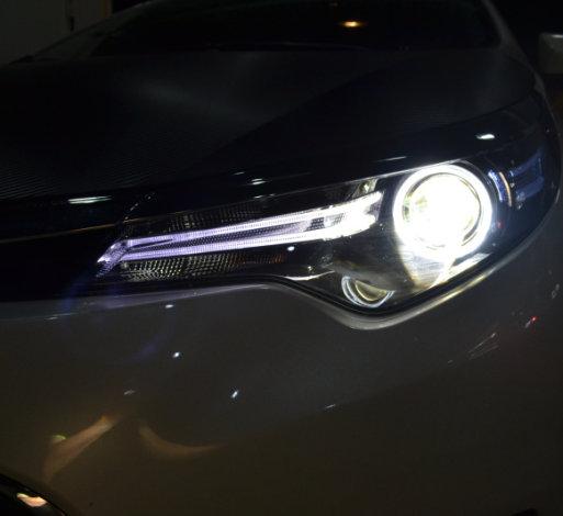 雷凌改装天使眼恶魔眼Q5双光透镜氙气灯