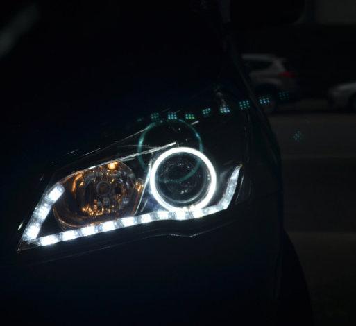 启悦车灯改装透镜氙气灯
