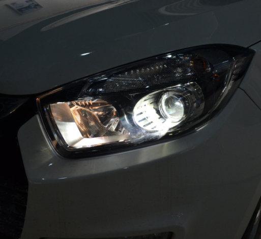 江淮瑞风车灯升级Q5透镜欧司朗氙气灯