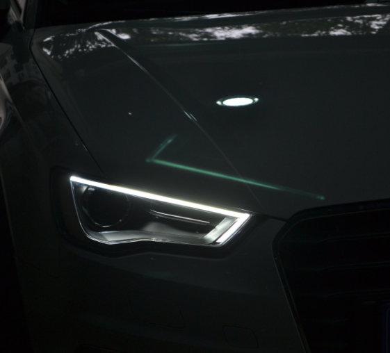 奥迪A3车灯改装升级原装顶配氙气灯LED日行灯