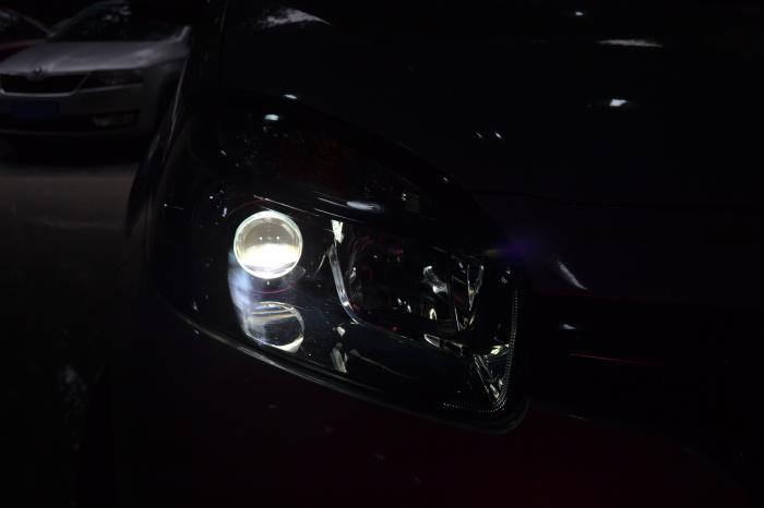科雷傲车灯改装氙气灯双光透镜