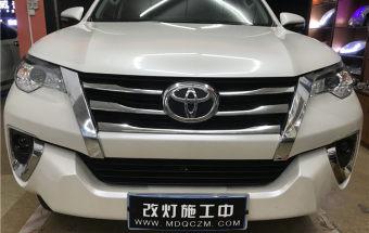 丰田穿越者大灯升级进口海拉6+进口飞利浦XV+雾灯GTR双光透镜