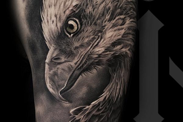 写实老鹰纹身欣赏