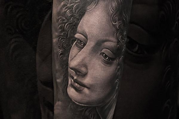 岩间的圣母纹身欣赏