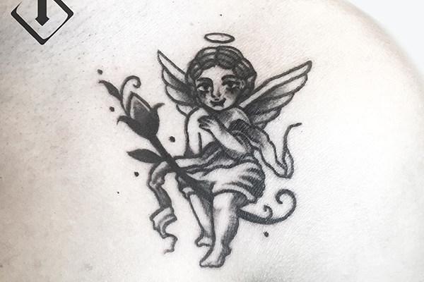 天使纹身图案大全,天使纹身图片