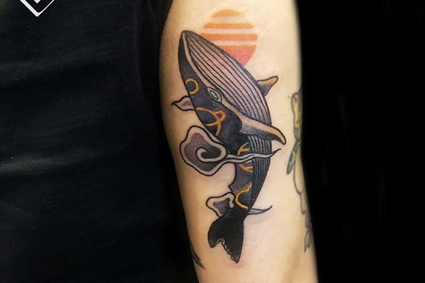 鲸鱼纹身_鲸鱼纹身图案大全