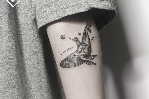 鲸鱼纹身欣赏