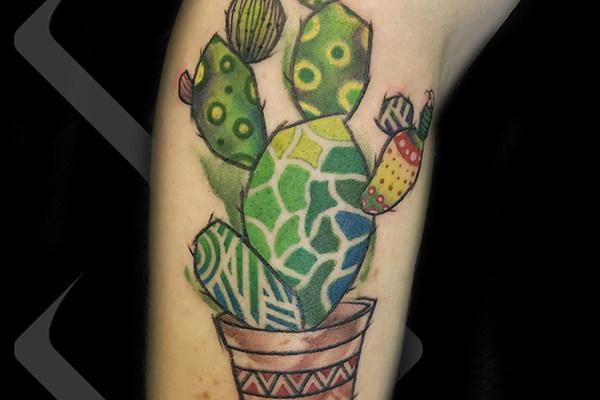 植物纹身_卡通植物纹身_仙人掌纹身