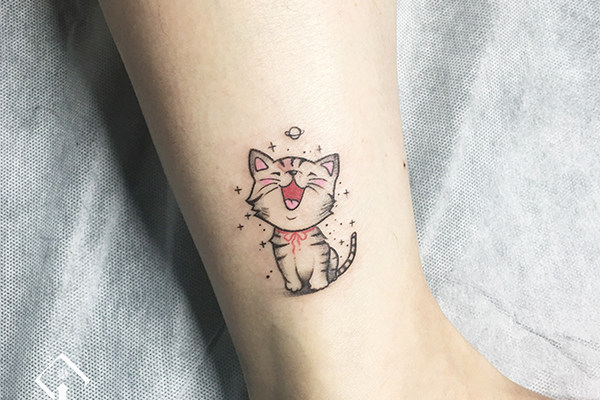 猫纹身_小猫纹身_小猫纹身图案_纹身小猫图片大全