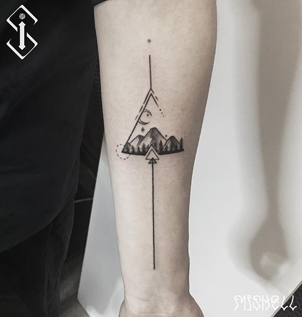 山纹身_山脉纹身_山脉纹身图案