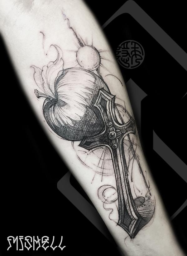 十字架纹身_十字架纹身图案