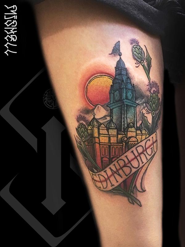 房子纹身_城堡纹身图案鉴赏