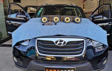 现代新胜达汽车音响改装 | 黄金声学喇叭 | 大麦隔音升级 | 台州慧声